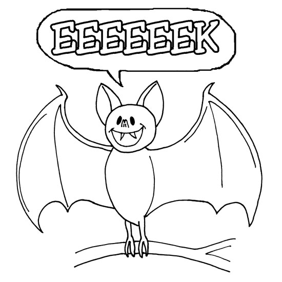 Halloween colouring pages for kids free printables for Halloween coloring pages bats