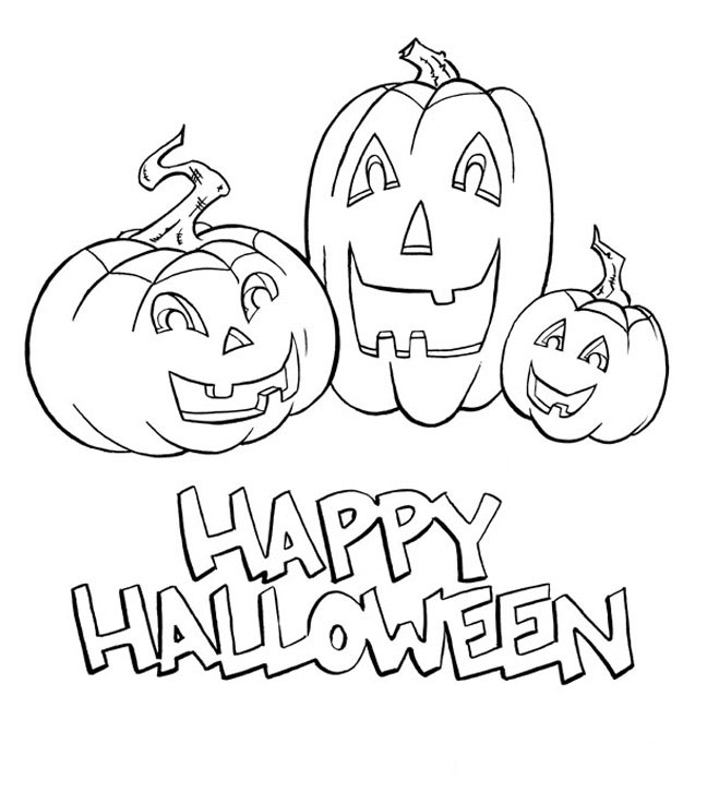 Print And Colout The Happy Halloween Pumpkins