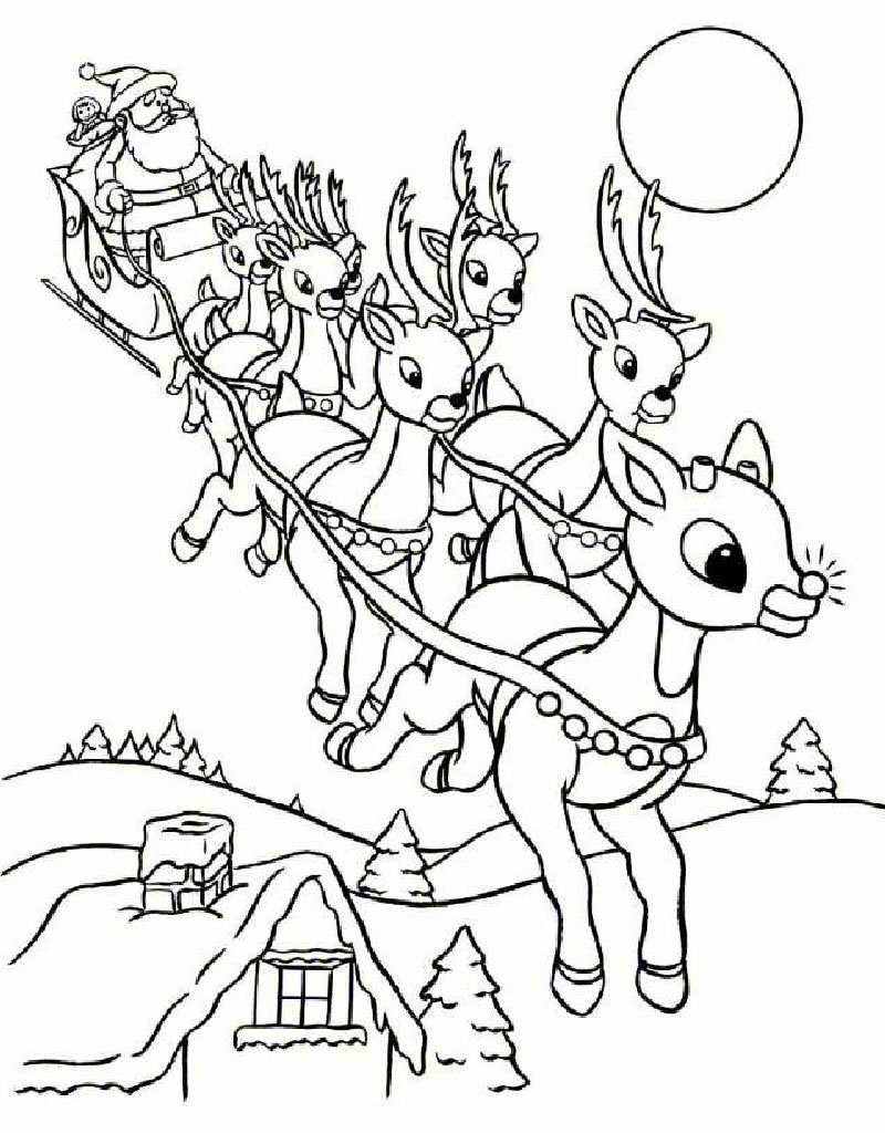 Kids christmas coloring and activity sheets - Christmas Colouring Pages