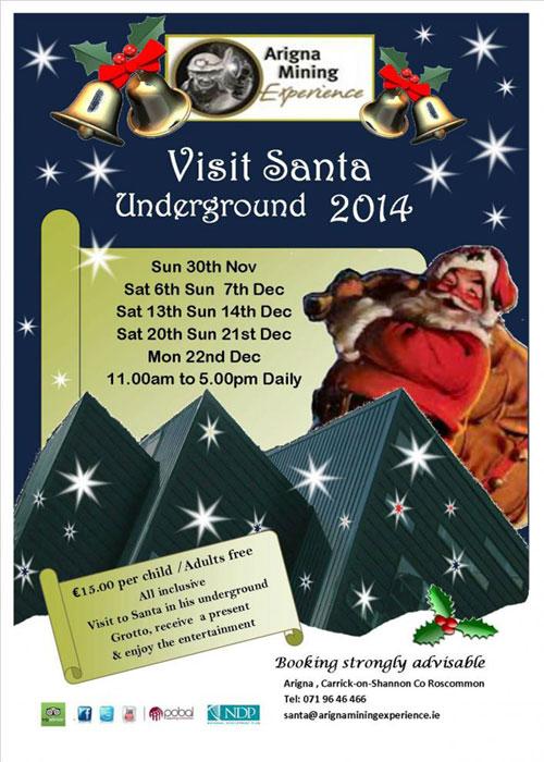 """""""Santa At Arigna Mining Experience Roscommon"""""""