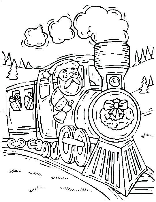 santas train coloring pages - photo#1