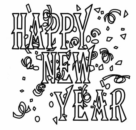 Free Happy New Year Colouring Pages for Kids