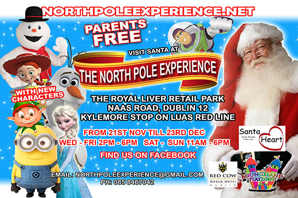 """""""The North Pole Experience in the The Royal Liver Retail Park, Dublin"""""""
