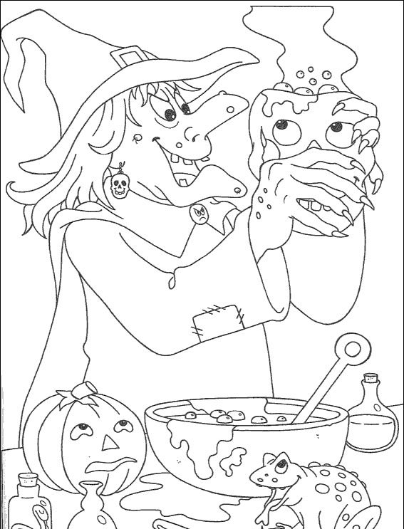 witch - Witch Colouring Pages