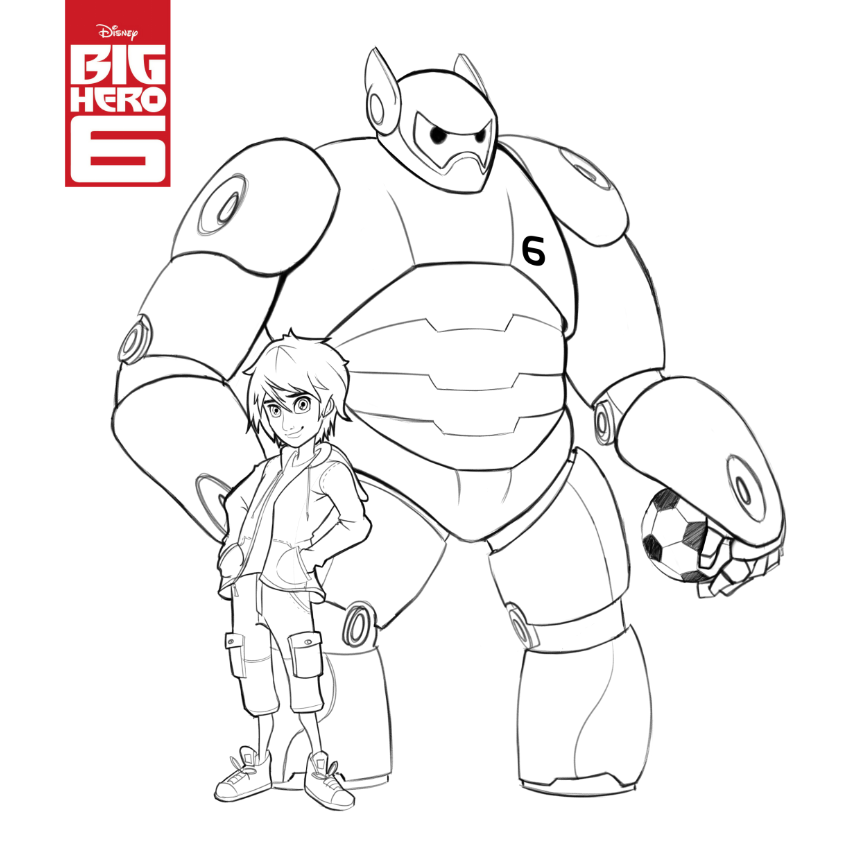 Print And Colour Big Hero 6 Colouring Page