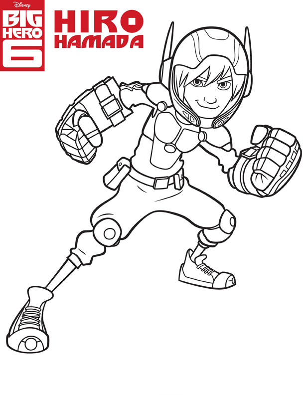 Big Hero 6 Colouring Pages