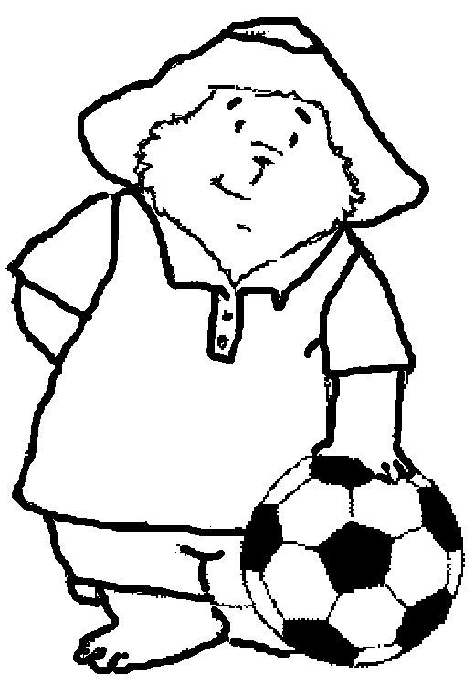 Print And Colour Paddington Bear Playing Football
