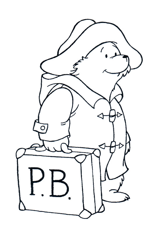 paddington bear colouring pages - Colouring Pictures To Print