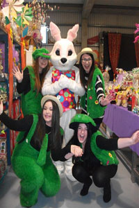 """Easter Bunny At The Chocolate Warehouse in Dublin"""