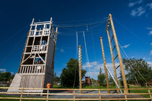 """The Rathbeggan Lakes High Kings Adventure Tower"""