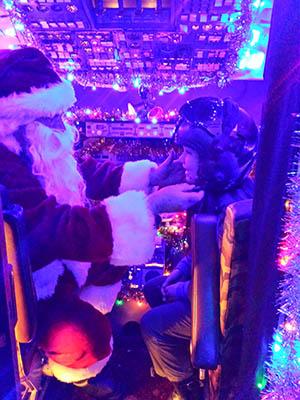 """""""Meet Santa at the Flight Deck and see Santa's Aero Grotto"""""""