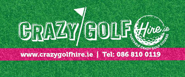 """Portable 9 Hole Crazy Mini Golf Hire"""