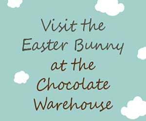 """Easter Bunny At The Chocolate Warehouse"""