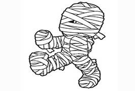"""Mummy Wrap Halloween Game"""