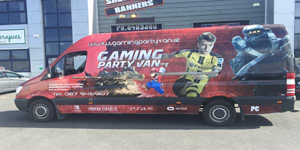 """Gaming Party Van for your Birthday Party"""