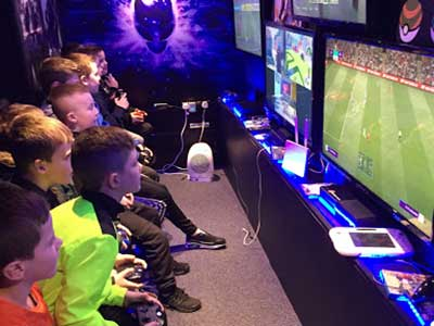 """Gaming Party Van For Kids Birthday Parties"""