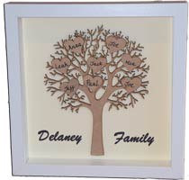 Personalised Family Tree Gift Frames Family Fun