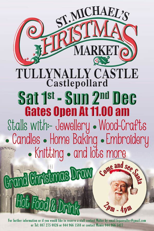 """Tullynally Castle Gardens Christmas Market"""