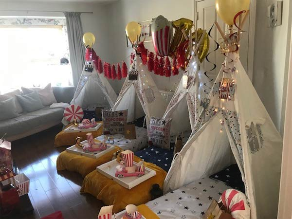 """Movie Night Dream Teepee Party"""
