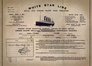 """Titanic Experience Ticket"""
