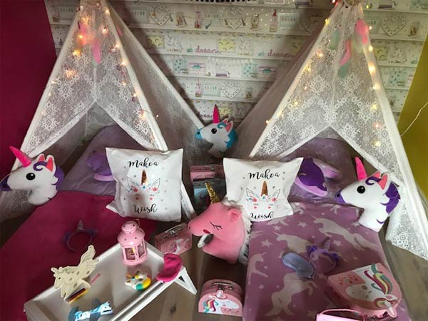 """Unicorn Dream Teepee Party"""
