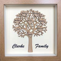 """""""Family Personalised Tree Frame"""""""