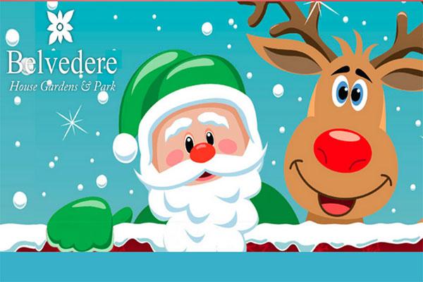 """Belvedere House Green Santa"""