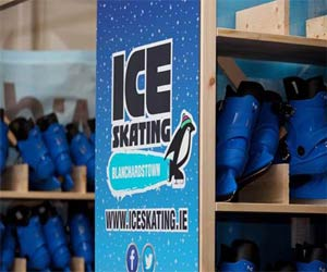 """ice skating at Blanchardstown"""