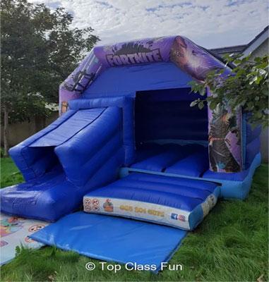 """Top Class Fun Disco Fortnite Bouncy Castle"""
